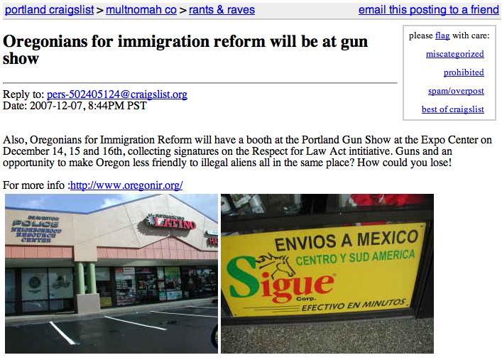 kill those immigrants!