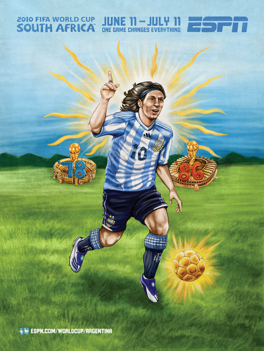 Argentinas Lionel Messi World Cup Mural