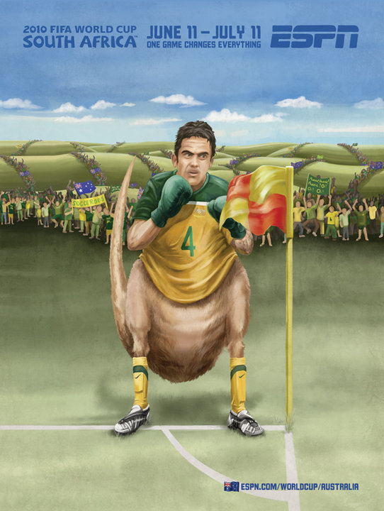 Australia World Cup Painting Kangaroo
