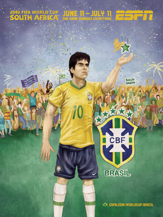 Brazil Football World Cup Mural