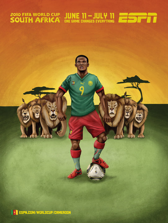 Cameroon World Cup Mural