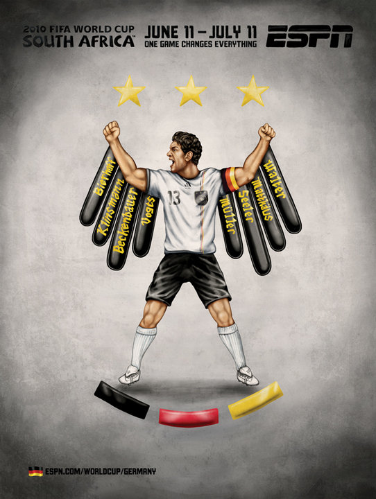 Germany Michael Ballack World Cup Eagle Mural