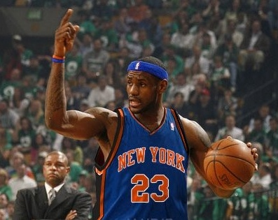 Lebron James As A New York Knick