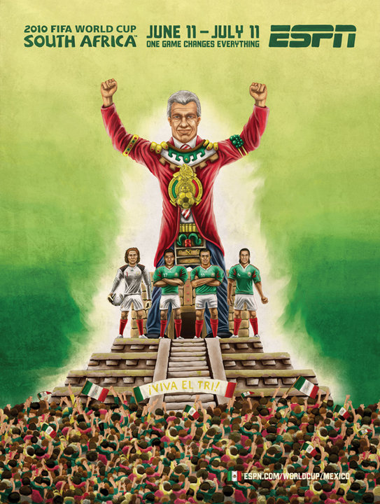 Mexico Aztec Pyramid World Cup Mural 2010