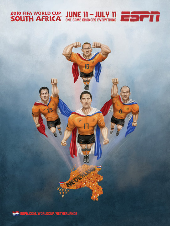 Netherlands Superman World Cup Mural ESPN