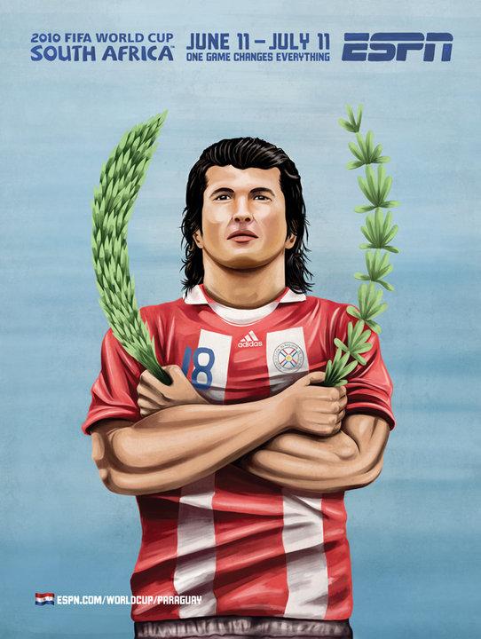 Paraguay Soccer Mural Football 2010