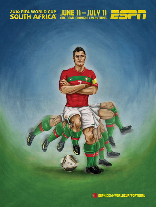 Portugal 2010 World Cup Ad With Ronaldo