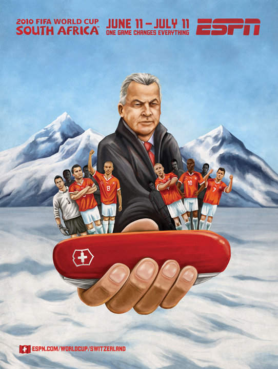 Switzerland Soccer Mural Advertisement