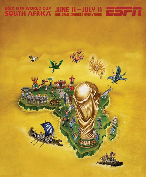 ESPN Mural For 2010 Worldcup All 32 Nations