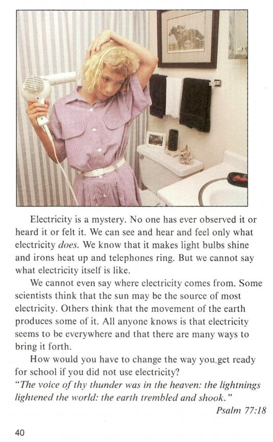 Bob Jones Textbook Explanation of Electricity
