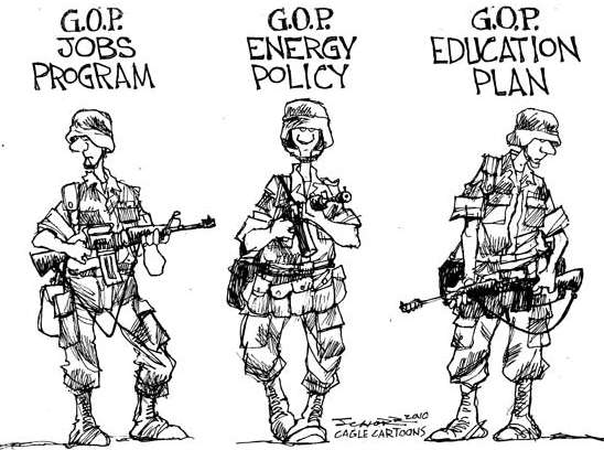 The Republican Plan For America Political Cartoon