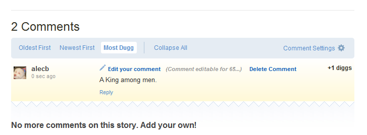 Digg Broken Comments