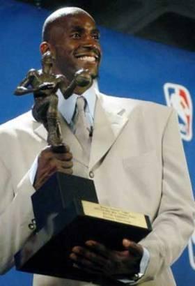 Garnett with MVP Trophy
