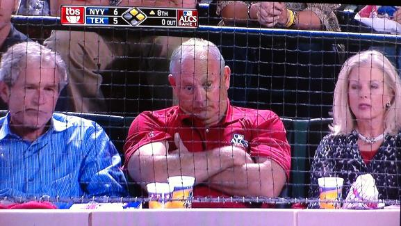 George Bush Watches the Rangers