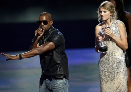 Kanye West and Taylor Swift at the VMAs
