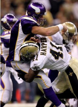 Brett Favre Gets Sacked