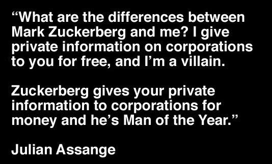 Julian Assange Versus Mark Zuckerberg