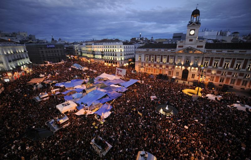Protests In Spain Photograph