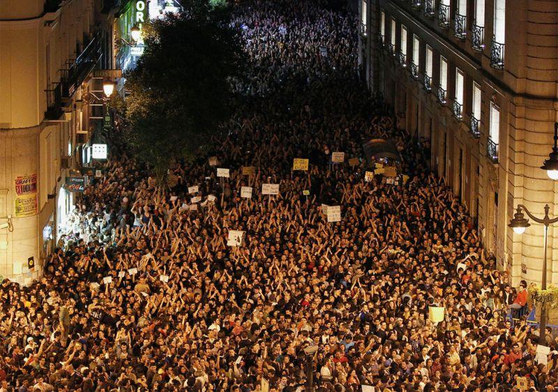 Protest In Spanish Square Picture