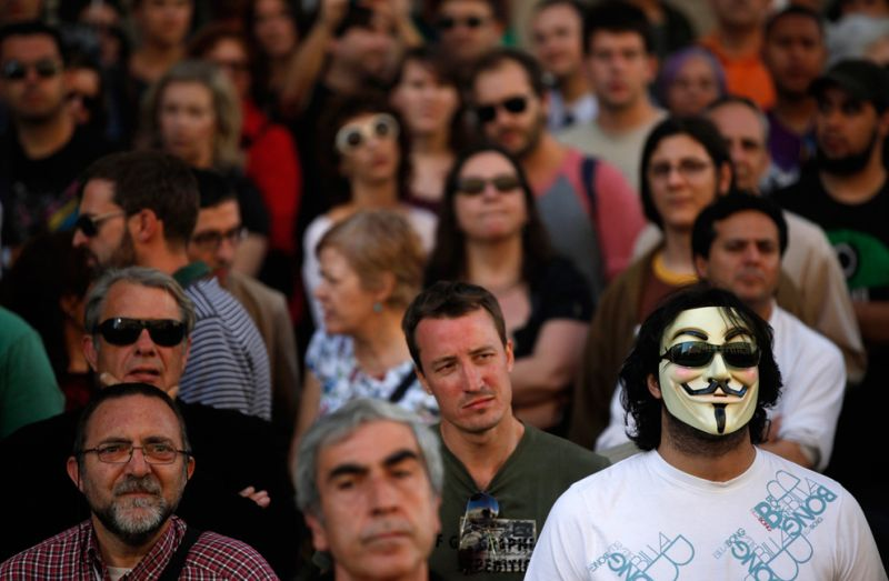 Anonymous Protests In Spain Picture