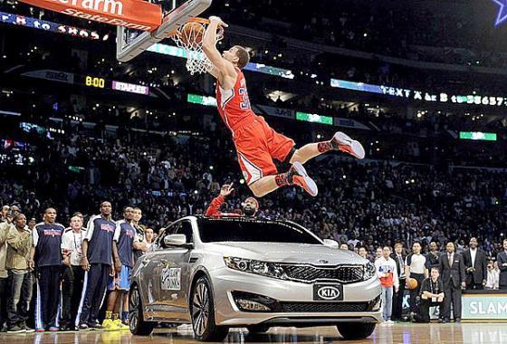 Blake Griffen Slam Dunk Over Kia Car