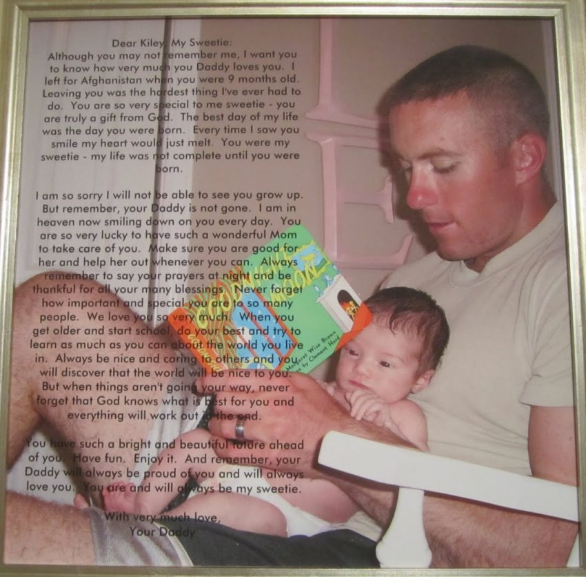 Soldier Leaves His Baby Daughter A Note Before Going To Afghanistan