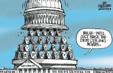 Congresses House Of Cards Debt Ceiling Comic
