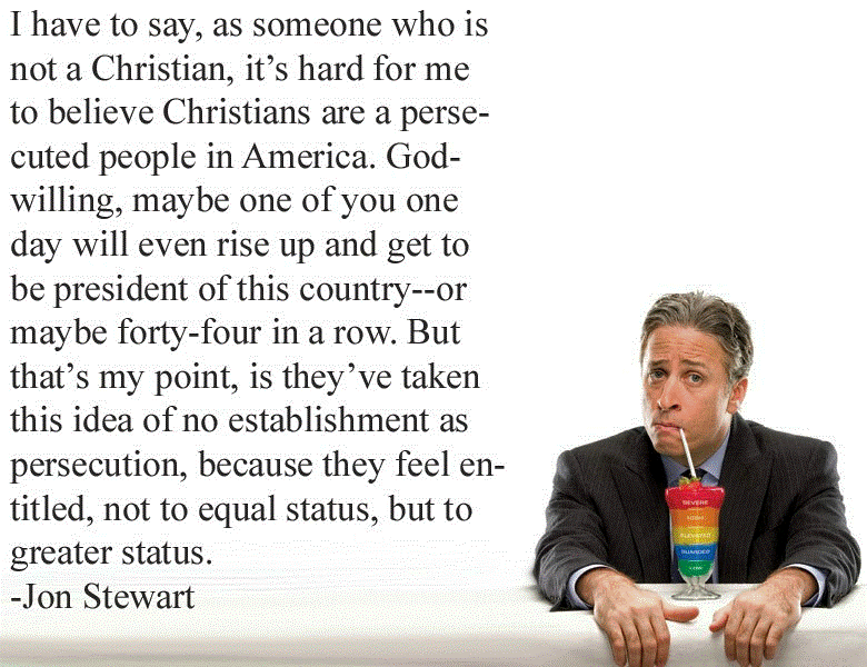 Jon Stewart On Christian Victimhood In America Picture