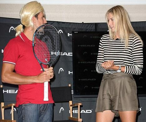 Djovokic In Drag Impersonates Sharapova Picture