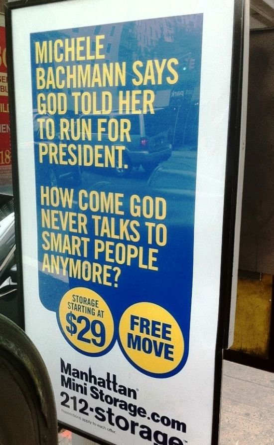 Michele Bachmann Talks To God Why Doesn't God Talk To Smart People?