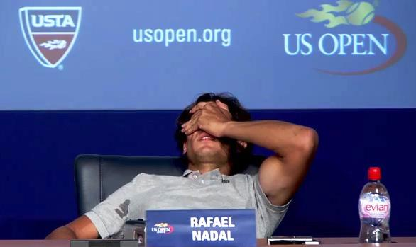 Rafael Nada Cramps At The US Open 2011