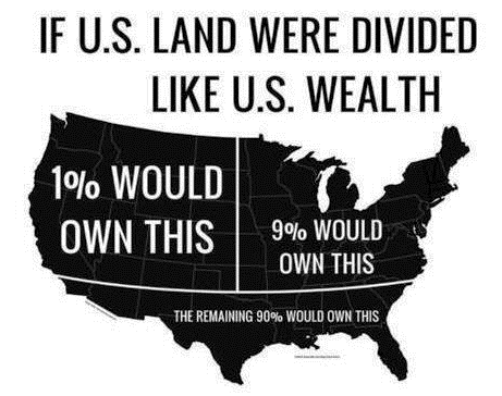 If American Land Was Divided Like American Wealth Map