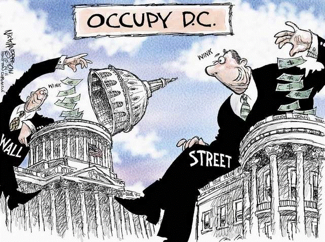 Wall Street Occupy Washington DC Political Cartoon