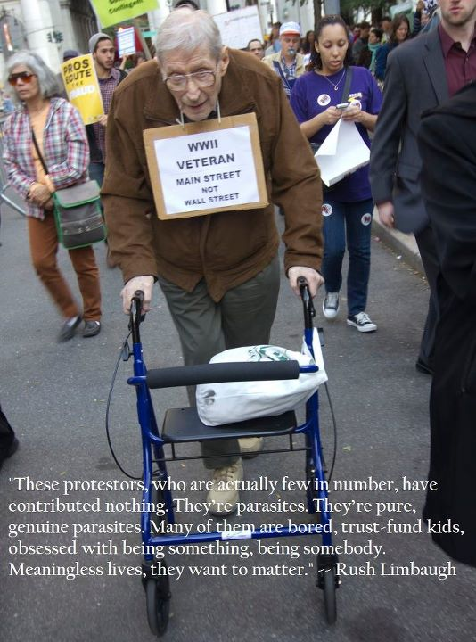 A World War 2 Veteran Joins Occupy Wall Street