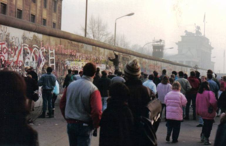 Fall of Berlin Wall in 1989 Photograph