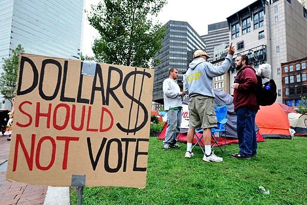 Occupy Wall Street Dollars Should Not Vote