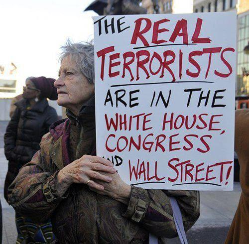 Occupy Wall Street Real Terrorists In Congress and White House