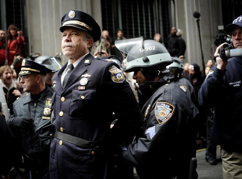 Retired Police Captain Ray Lewis Arrested At Occupy Wall Street Photograph