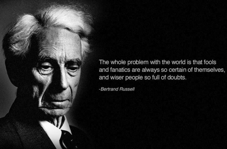 Bertrand Russell Quote On The Paradox of Fools And Wise Men