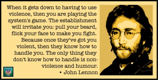 John Lennon Quote On Nonviolence