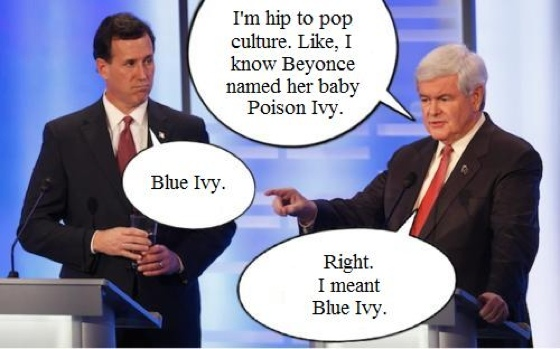 Beyonce, Santorum, and Gingrich?