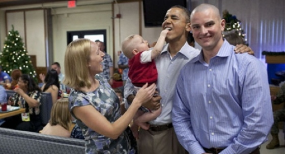A Rogue Baby Punches Obama In The Mouth