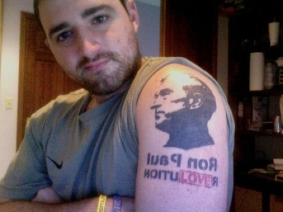 Tattoo Of Ron Paul: Worse Than 'Mom'?