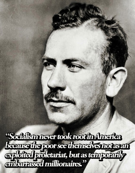 John Steinbeck Quote On Socialism In America