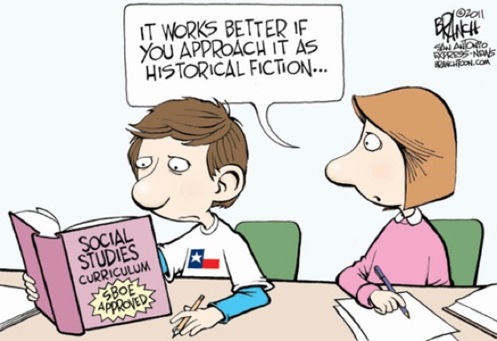 Post image for Social Studies In Texas: More Like 'Historical Fiction'