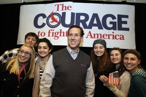 santorum courage The Santorum Surge: One Mans Culture War Is Anothers Flaccid Flop