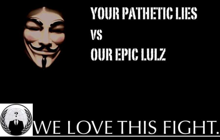 Lies Lulz Anonymous