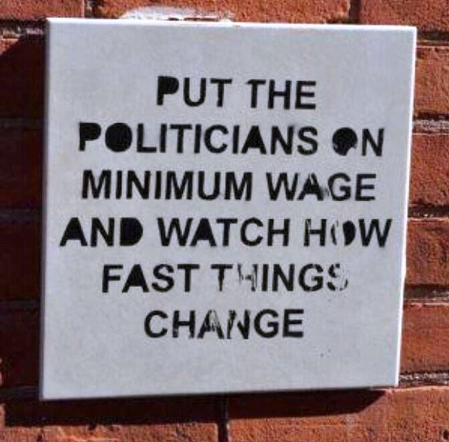 Minimum Wage Politicians