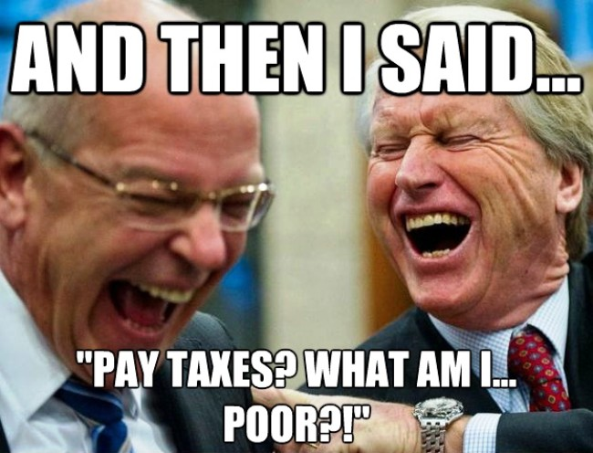 Taxes Poor Joke