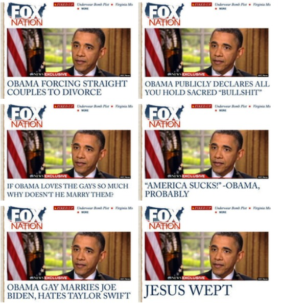 Rejected FOX Headlines Obama Gay Marriage